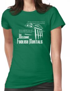 Haunted Mansion Ghost Host Speech Womens Fitted T-Shirt