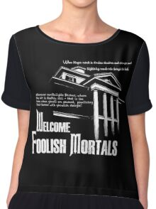Haunted Mansion Ghost Host Speech Chiffon Top