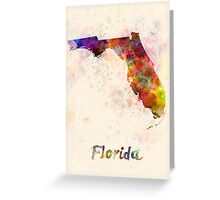 Florida US state in watercolor Greeting Card