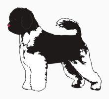 Portuguese Water Dog Black & White Baby Tee