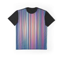 Faded stripes pattern Graphic T-Shirt