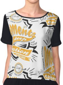 Cool Moments of Deep Emotion Pop Art Chiffon Top