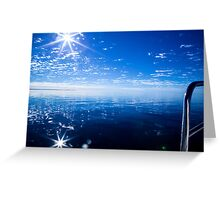 glorious day on the waters of Shark Bay Marine park Greeting Card