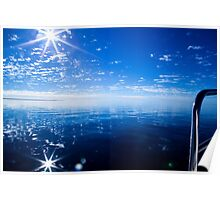 glorious day on the waters of Shark Bay Marine park Poster