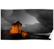Storm At Ross Castle Poster