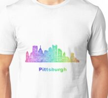 Rainbow Pittsburgh skyline Unisex T-Shirt