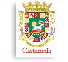 Castaneda Shield of Puerto Rico Canvas Print