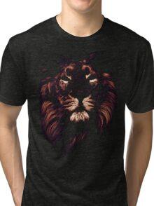 colored lion, indian lion Tri-blend T-Shirt