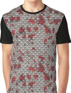 Rivet Plate - Silver w/Red Splash Graphic T-Shirt