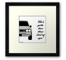 """Nissan Skyline 2000 GT-R - """"She's gotta have those kind of eyes"""" Framed Print"""