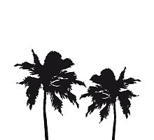 Two palm trees on the beach sun sea by Style-O-Mat