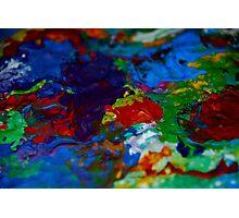 Acrylic paint palette Photographic Print