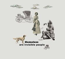 Homeless are invisible people Womens Fitted T-Shirt