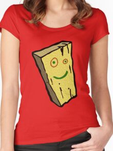 Plank Wood Women's Fitted Scoop T-Shirt