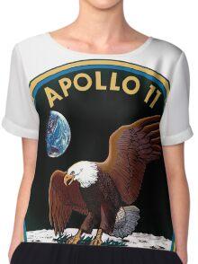 Apollo 11 Logo Old Logo Badge Chiffon Top