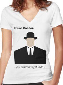 It's an Odd Job... Women's Fitted V-Neck T-Shirt