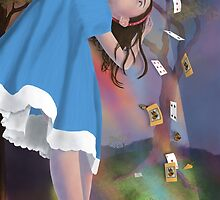 Flying Cards Dissolve Alice's Dream by Audra Lemke