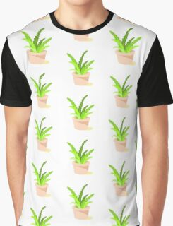 Pixelated Potted Plant Graphic T-Shirt