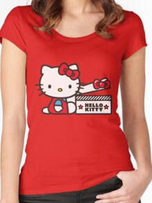 kitty hellow Women's Fitted Scoop T-Shirt