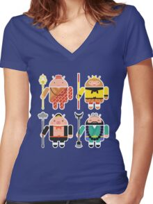 Droid Journey to the West Women's Fitted V-Neck T-Shirt
