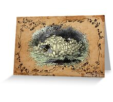 Bumblebee Nest Greeting Card