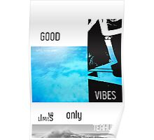 Teahupo'o Good Vibes only surf version Poster