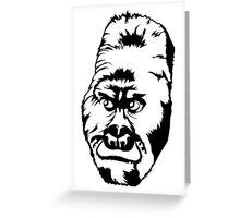 Western Lowland Gorilla Linear Greeting Card
