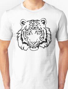 Sumatran Tiger Linear Unisex T-Shirt