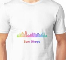 Rainbow San Diego skyline Unisex T-Shirt