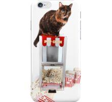 Cat on Pop Corn Machine iPhone Case/Skin