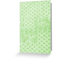 Polygon Moon Structure Design (Green Flash Color) Greeting Card