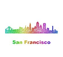 Rainbow San Francisco skyline Photographic Print