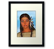 Native American Woman Framed Print