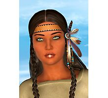 Native American Woman Photographic Print