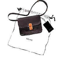 Black bag {Celine} #FASHION #CELINE Photographic Print