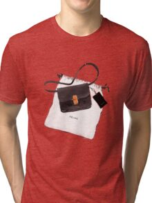 Black bag {Celine} #FASHION #CELINE Tri-blend T-Shirt