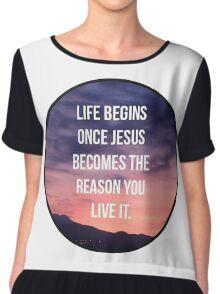 Christian Quote Chiffon Top