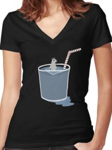 Ice-olated Women's Fitted V-Neck T-Shirt