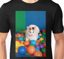 Cat Playing in balls Unisex T-Shirt