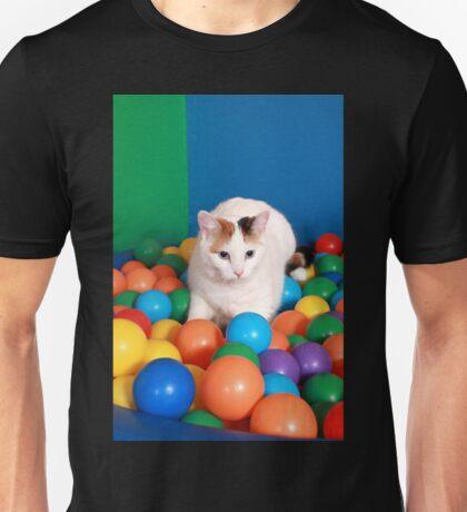 Cat Playing in balls Unisex T-Shirt