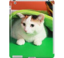 Hide and seek playing cat iPad Case/Skin