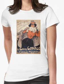 French Vintage Poster ca. 1890 Restored Womens Fitted T-Shirt