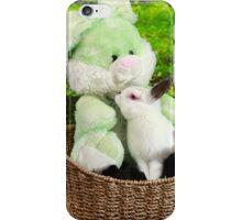 Rabbit kissing Bunny iPhone Case/Skin