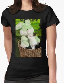 Rabbit kissing Bunny Womens Fitted T-Shirt