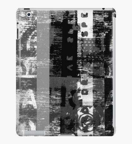 Distorted Alphabet iPad Case/Skin