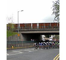 cyclists peloton Photographic Print