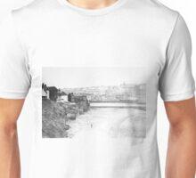 Walk on Whitby beach Unisex T-Shirt