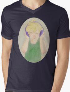 Headphone Ven Mens V-Neck T-Shirt