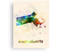 Massachusetts US state in watercolor Canvas Print