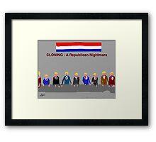 Cloning, A Republican Nightmare, by Roger Pickar, Goofy America Framed Print